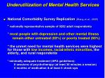 underutilization of mental health services