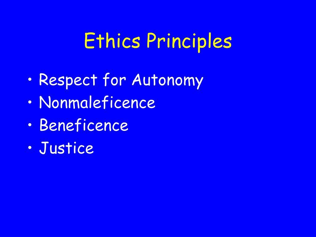 ethics principles l.