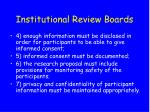 institutional review boards30