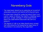 nuremberg code21