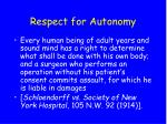 respect for autonomy9