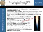 combustion turbulence and cfd the population analogy