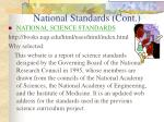national standards cont