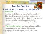 possible solutions limited or no access to the internet60