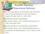 possible solutions nonexistent software
