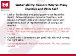 sustainability reasons why so many charities and vcos fail1