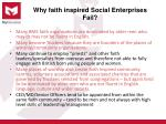 why faith inspired social enterprises fail