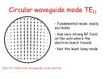circular waveguide mode te 11