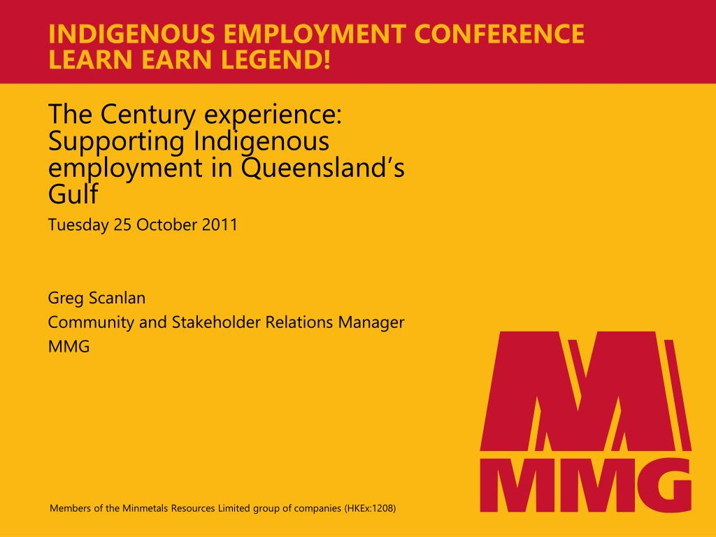 indigenous employment conference learn earn legend l.