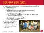 indigenous employment pre vocational program