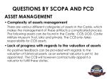 questions by scopa and pcd