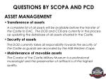 questions by scopa and pcd11