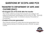 questions by scopa and pcd13