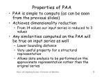properties of paa