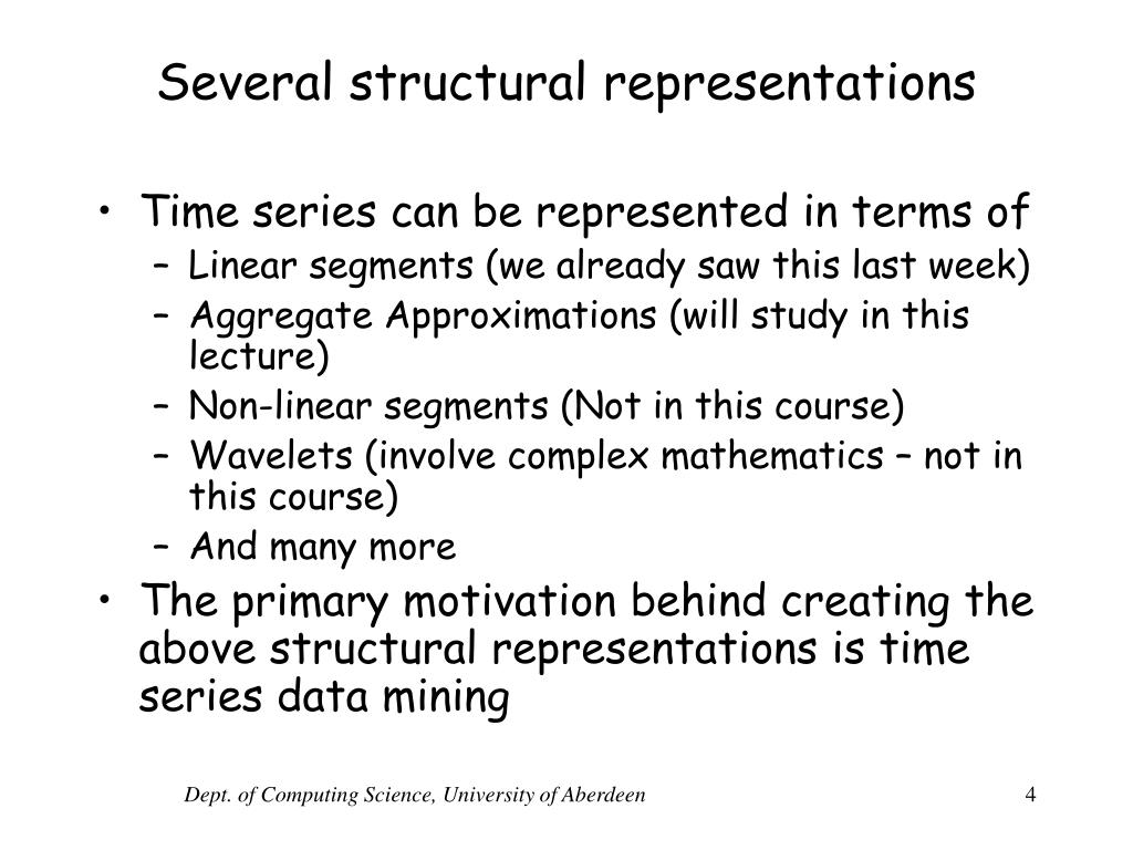 Several structural representations