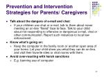 prevention and intervention strategies for parents caregivers33