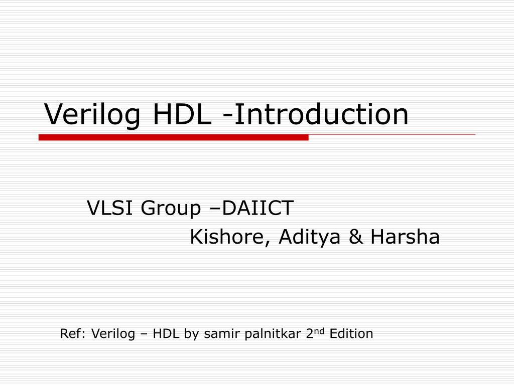 verilog hdl introduction l.