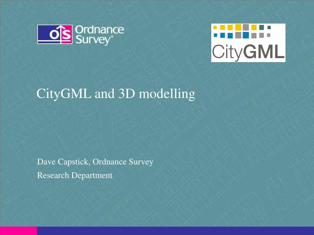 citygml and 3d modelling l.