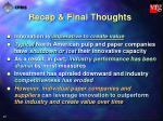 recap final thoughts