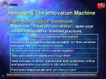 restarting the innovation machine31