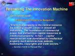 restarting the innovation machine40
