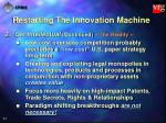 restarting the innovation machine41