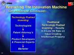 restarting the innovation machine43