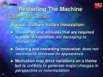 restarting the machine