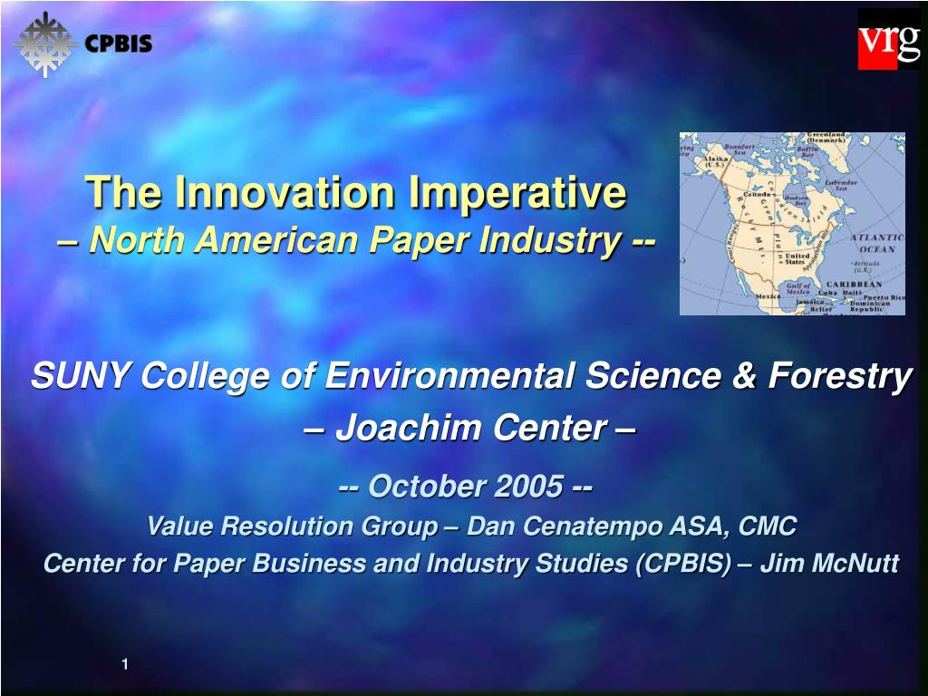 the innovation imperative north american paper industry l.