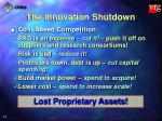 the innovation shutdown13