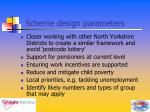 scheme design parameters