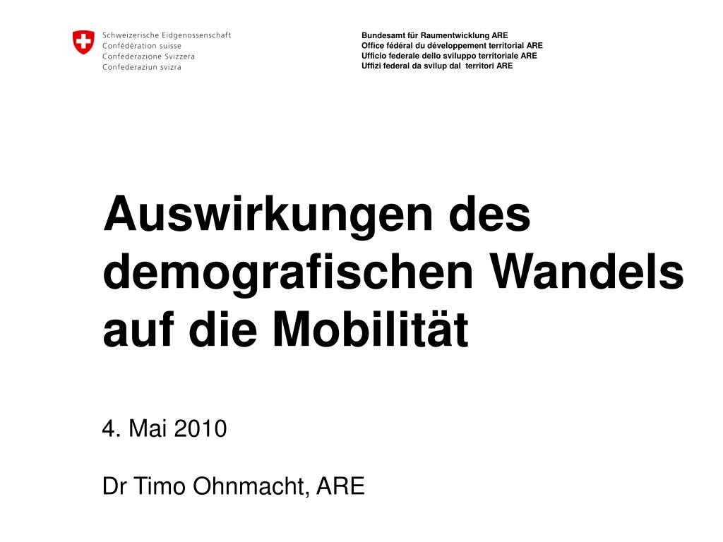 auswirkungen des demografischen wandels auf die mobilit t l.