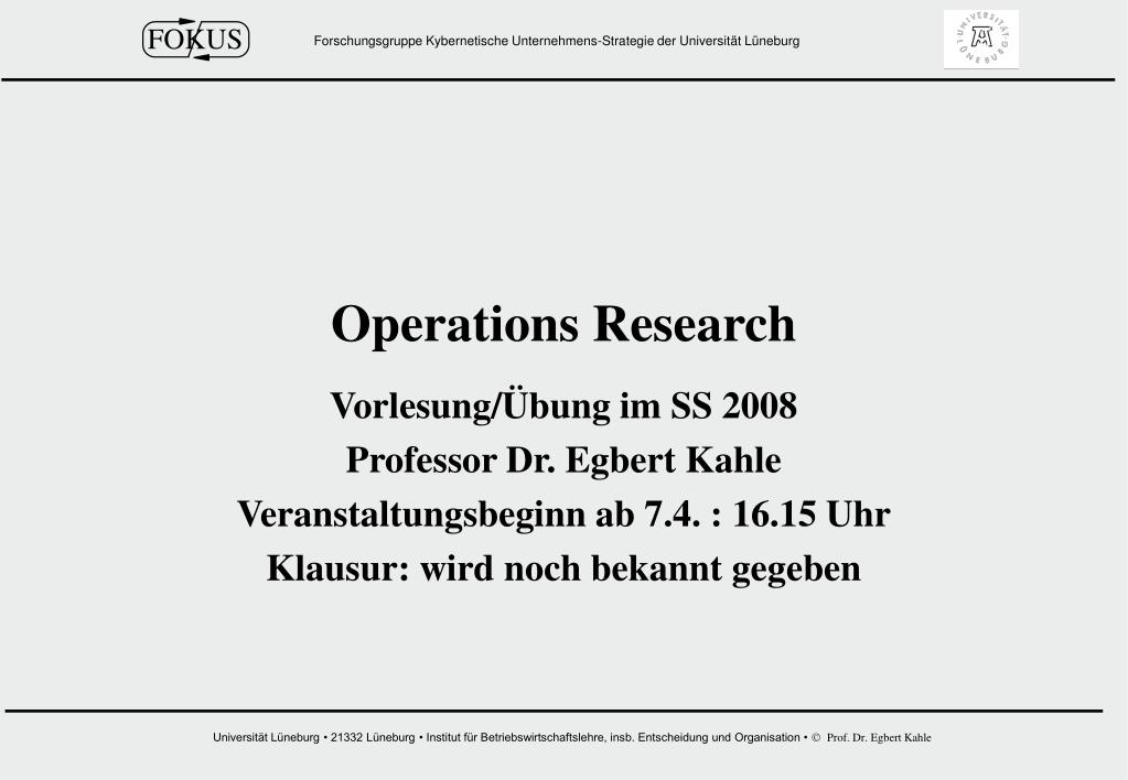 operations research l.