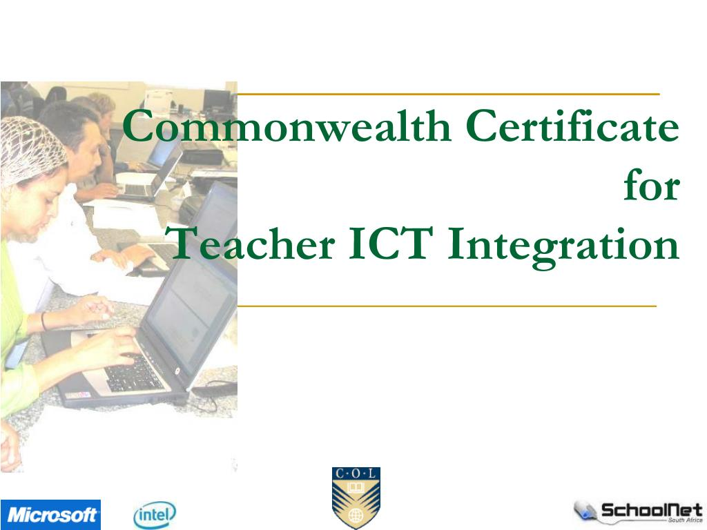 commonwealth certificate for teacher ict integration l.