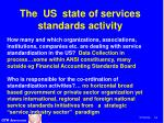 the us state of services standards activity34