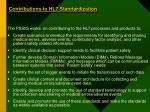 contributions to hl7 standardization