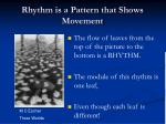 rhythm is a pattern that shows movement