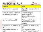 pmbok vs rup33
