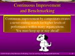 continuous improvement and benchmarking