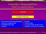 controller s responsibilities chief accounting officer