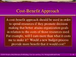 cost benefit approach