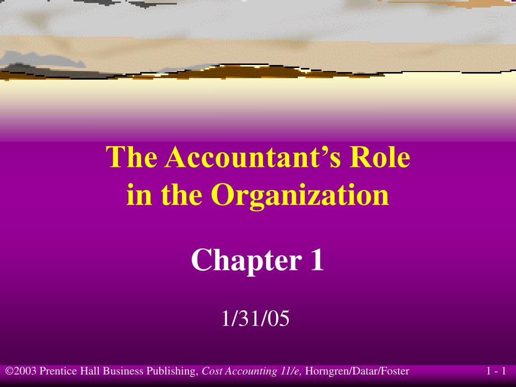 the accountant s role in the organization l.