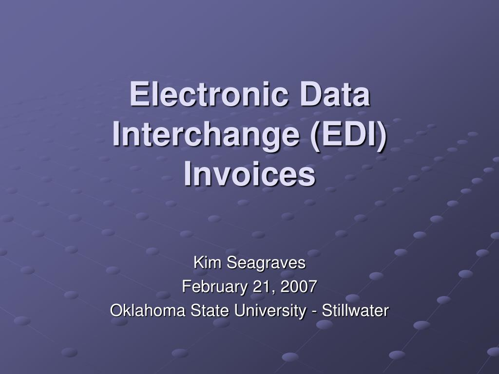electronic data interchange edi invoices l.