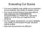 evaluating cut scores
