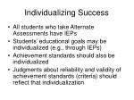 individualizing success