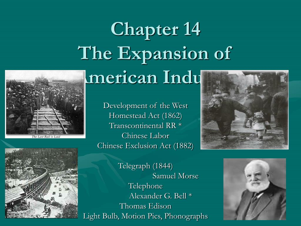 chapter 14 the expansion of american industry l.