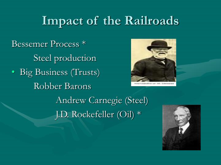 Impact of the railroads