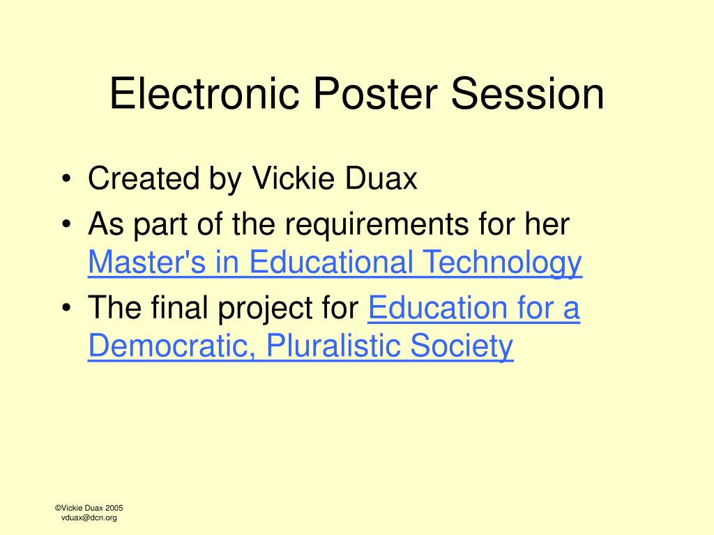 electronic poster session l.