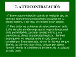 7 autocontrataci n
