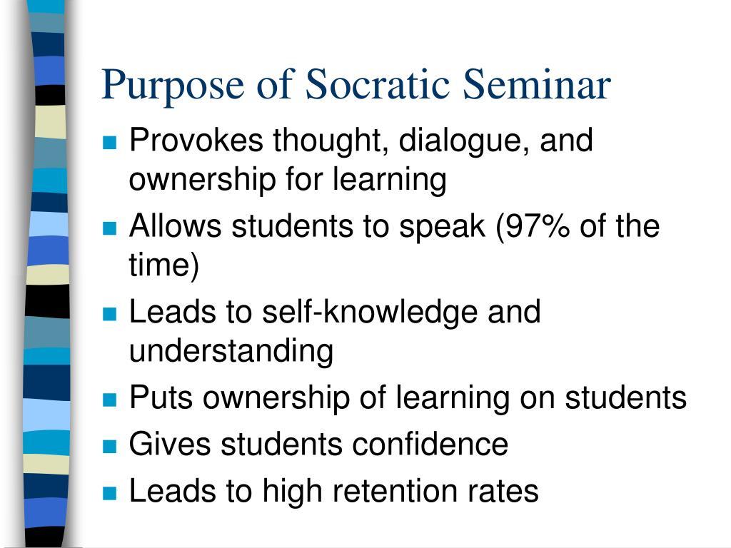 purpose of socratic seminar l.